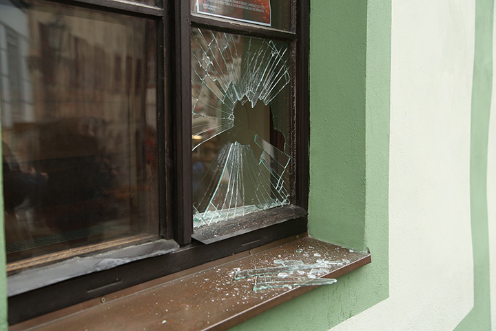 A2B Glass are able to board up broken windows while they are being repaired in Highbury.